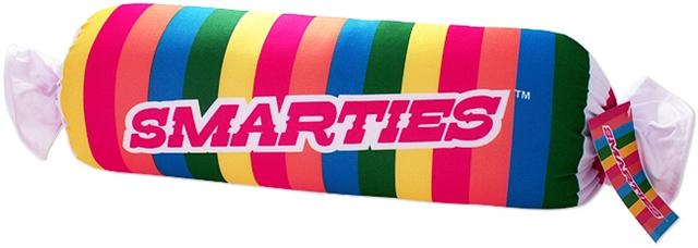 Smarties Candy Logo Squishy Smarties Candy Pillow
